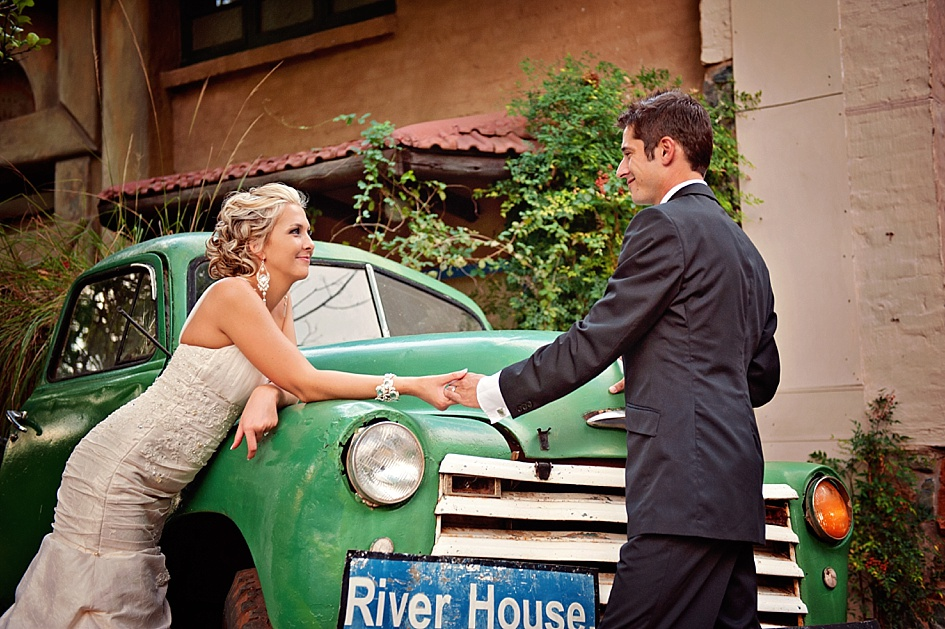 vintage couple wedding