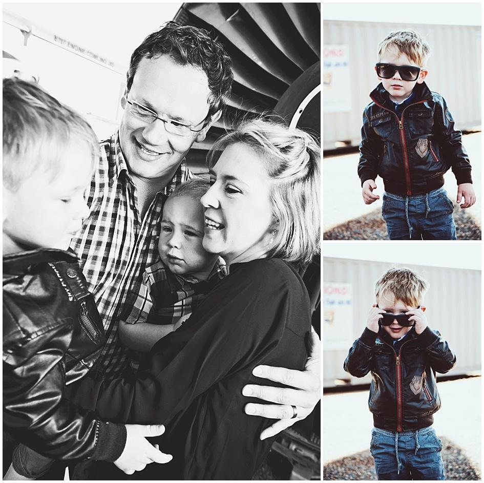 Kids and Toddler Shoot Airplane - Family hug